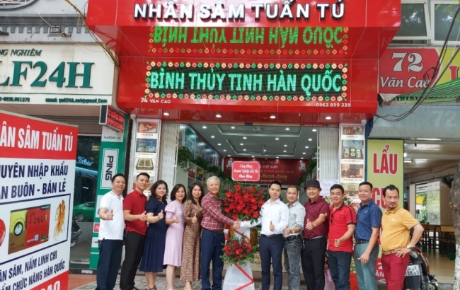 Hải Phòng: Khai trương cửa hàng nhân sâm Tuấn Tú 74 Văn Cao