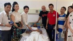 Quỹ Tình Nghệ sĩ vào bệnh viện thăm ca sĩ Hồ Phàm bị bắn