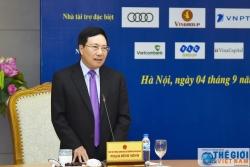 Phó Thủ tướng Phạm Bình Minh gặp mặt các doanh nghiệp tài trợ WEF ASEAN 2018